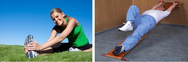 Выполнение упражнений против грыжи
