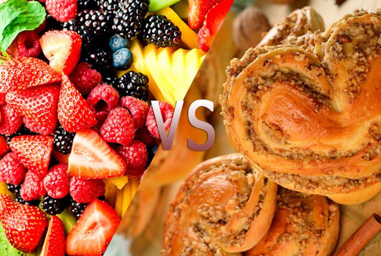 Польза фруктов против хлебобулочных изделий