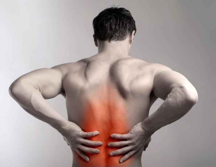 Основное место возникновения болей
